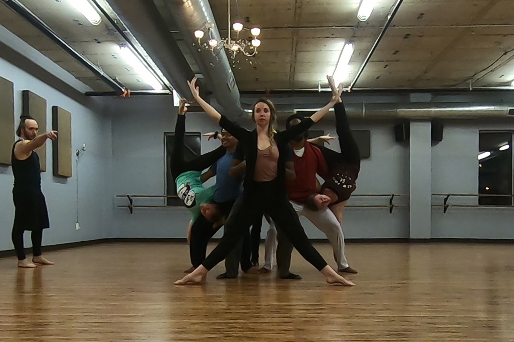 Project Awake cast in rehearsal at Dance East